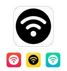 Radio signal icon vector