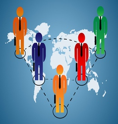 Business relationship global vector