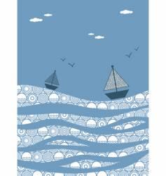 choppy seas vector image