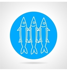 Sea fish blue round icon vector