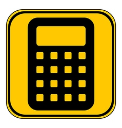 Calculator button vector