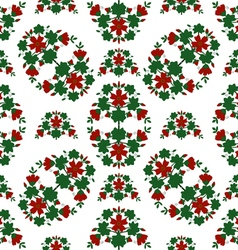 Red flowers pattern vector
