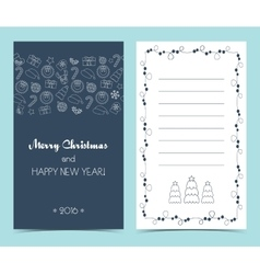 Christmas card on the front and inside seamless vector
