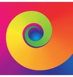 Colorful swirl shape vector
