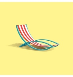 Beach deck chair vector