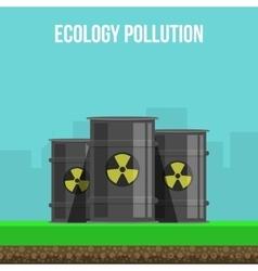 Environmental pollution poster vector