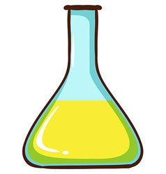 A simple coloured sketch of a lab glassware vector