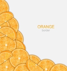 Abstract border with sliced oranges vector