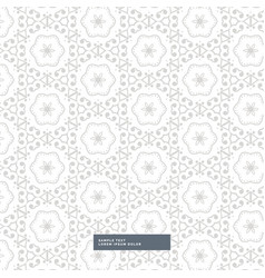 Abstract gray pattern background with flower vector
