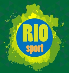 Abstract rio sport design with blue circle vector image vector image