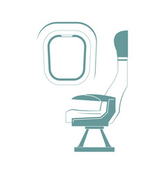 aircraft seat vector image vector image