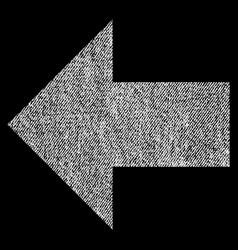 Arrow left fabric textured icon vector