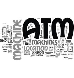 Atm machines does your business need one text vector