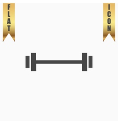 Barbell - Single Icon vector image vector image