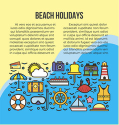 Beach summer holidays or sea cruise travel vector