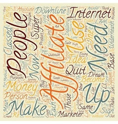 Become a super affiliate text background wordcloud vector