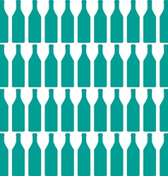 Bottle silhouette vector image
