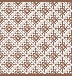 Brown damask decorative pattern background vector