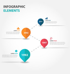 colorful business timeline raodmap infographics vector image vector image