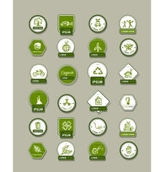 Ecology labels set for your design vector image vector image