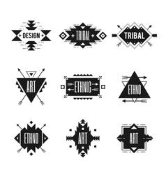 Ethnic Logo Set vector image
