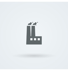 Factory icon smoking pipes vector