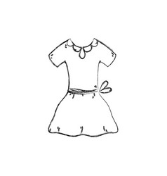 Isolated dress design vector