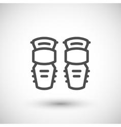Knee guard line icon vector