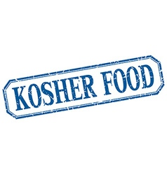 Kosher food square blue grunge vintage isolated vector