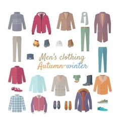 Men s clothing autumn winter collection vector