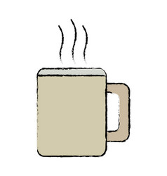 mug coffee hot beverage drink icon vector image
