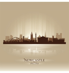 Newcastle England skyline city silhouette vector image