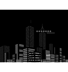 Night modern city abstract background vector image vector image
