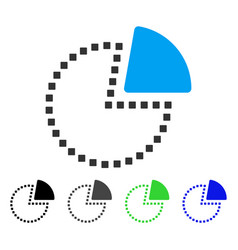 Pie chart flat icon vector