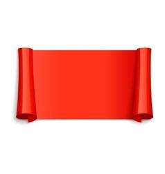 Red Glossy ribbon vector image