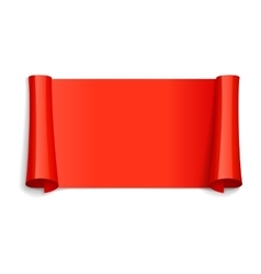 Red Glossy ribbon vector image vector image