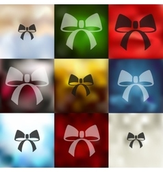 Ribbon icon on blurred background vector