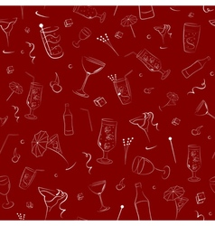 Seamless pattern on alcohol vector