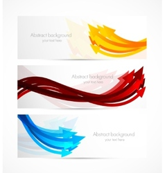 Set of banners with arrows vector image