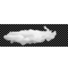 Set of transparent different white clouds vector image vector image