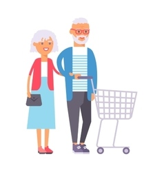 Shopping couple vector
