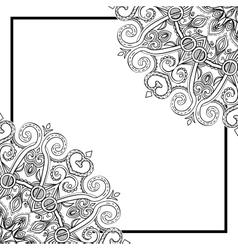 Square Mandala Frame-031 vector image vector image