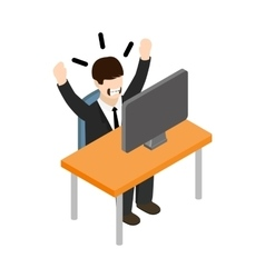 Stress situation at work icon isometric 3d style vector image vector image