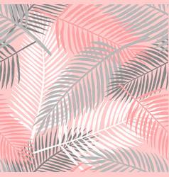 Tropical summer palm leaves seamless pattern vector