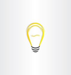 yellow bulb icon design vector image vector image