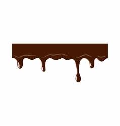 Flowing down chocolate icon vector