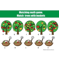 Counting educational children game kids activity vector