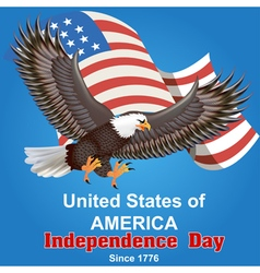 Background for independence day of america vector