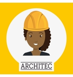 Avatar woman architect vector