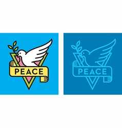 Dove of peace logo vector